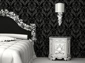 Baroque furniture in bedroom — Stock Photo