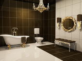 Luxurious interior of bathroom — Stock Photo