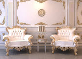 Royal furniture in luxury interior — Stock Photo