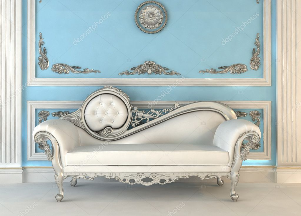 Luxury sofa with lamp in magnificence interior stock for Muebles estilo frances