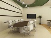 Table et chaises à l'intérieur de la Conférence. Bureau. — Photo