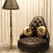 Luxurious furniture in design interior - Stock Photo