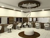Interior of Luxury Beauty Salon — Stock Photo