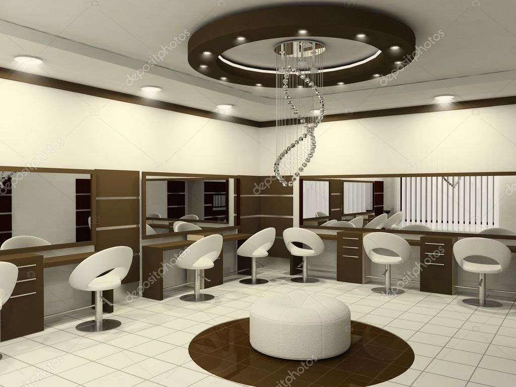 Interior of luxury beauty salon stock photo for Photo salon