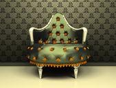 豪華な装飾的な肘掛け椅子の飾りの壁紙の背景 — ストック写真