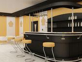 Perspektiv av bar med stolar i restaurang inredning — Stockfoto