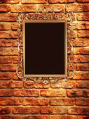 Retro Revival Old Gold Frame — Stock Photo