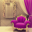 Royal furniture in a luxurious interior, pink pattern — Stock Photo #6321763