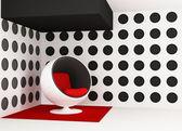 Pop art interior. Round armchair. Geometrical interior — Stock Photo