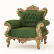 Royal armchair with luxurious frame. Fabric furniture — Stock Photo #6451578