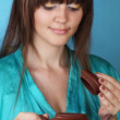 Tea ceremony with beautiful young woman — Foto de stock #6667248