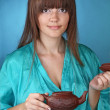 Tea ceremony with beautiful young woman — Stock Photo