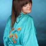 hudvård, porträtt av en vacker kvinnlig modell — Stockfoto #6667266