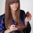 Tea ceremony with beautiful  — Foto de Stock