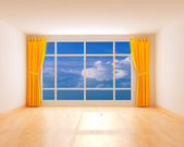 Room with a panorama — Stock Photo