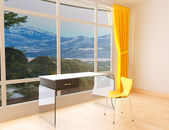 Room with a transparent table — Stock Photo