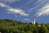 Valley San-Florian church and surrounding in summer — Stock Photo