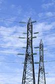 Jakim pylon zapewnia energię elektryczną — Zdjęcie stockowe