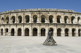 Ancient arenas of Nimes — Stock Photo