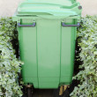 Green garbage container — Stock Photo