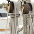 Stock Photo: Pulleys and ropes of sailing