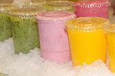 Smoothie fruit juice over ice — Stock Photo
