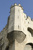 Corner tower of palace of popes in Avignon — Stock Photo