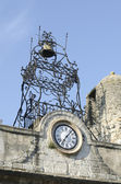 Bell and clock of Camaret-sur-Aigues in Provence — Stock Photo