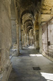 Corridor around a roman amphitheater — Stock Photo