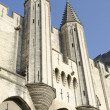 Palace of popes in Avignon, France — Stock Photo