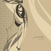Fashion illustration girl — Stock Photo