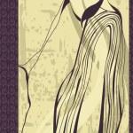 Hand-drawn fashion model. Vector illustration. — Stock Photo #6487824