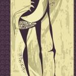 Hand-drawn fashion model. Vector illustration. — Stock Photo #6487848