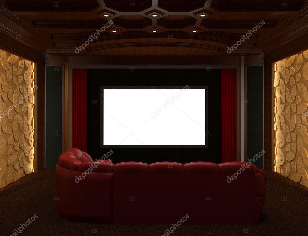 Interieur thuisbioscoop  u2014 Stockfoto  u00a9 NaPev #6487238
