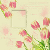 Vintage floral foto frame — Stock Photo