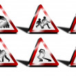 3d road sign set — Stock Photo