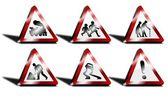3D Road Sign Set — Stock Photo
