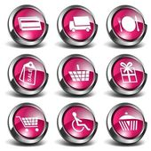 3D Shopping Icons — Stock Photo