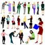 Women at Work No.1. — Stock Vector