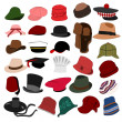 Royalty-Free Stock Vector Image: Lots of Hats Set 04
