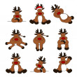 Vetorial Stock : Cute Christmas Reindeer Collection