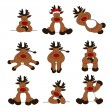 Stock vektor: Cute Christmas Reindeer Collection
