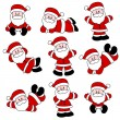 9 Festive Cute Santa Set for Christmas — Stock Vector #5785405
