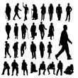 Lots of Silhouettes — Stock Vector