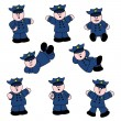 Professions - Policeman Set 01 — Stockvectorbeeld