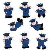 Professions - Policeman Set 01 — Stockvektor