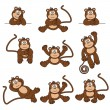 Cheeky Monkey — Stockvectorbeeld