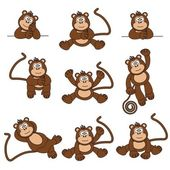 Cheeky Monkey — Stock Vector