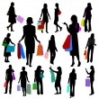 Women Shopping No.2. - Stock Vector