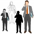Stock Vector: Business Man Style Set 10